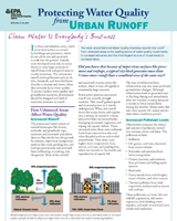 Pamphlet: Urban Runoff